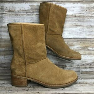 UGG 7M Tan Soft Suede Pull On Ankle Boots